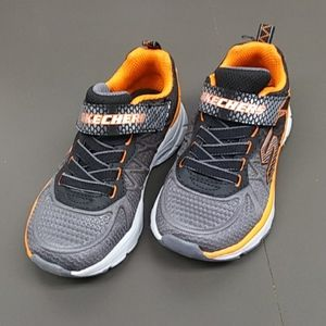 NWOT Skechers Orange Gray Velcro Sneakers Size 11